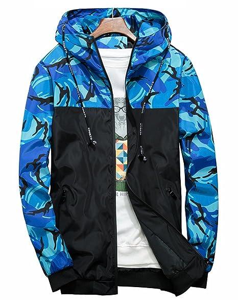 Qingxian - Abrigo - Chaqueta - para hombre Blau 01 S