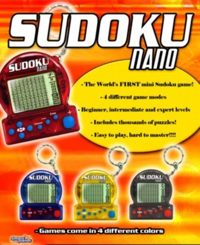 Sudoku Nano Mini Sudoku Game with Keychain Color Varies