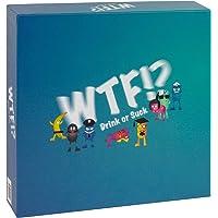 WTF!? Drink or Suck Trinkspiel / lustiges Partyspiel ab 4 Spielern / einfach zu erlernen / ideal für Geburtstag, JGA, Hausparty oder Festival / mit verrücktem Würfel, witzigen Karten u.v.m.