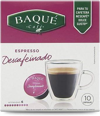 Cafés Baqué 2611DESC Capsulas Compatibles Dolce Gusto Espresso ...