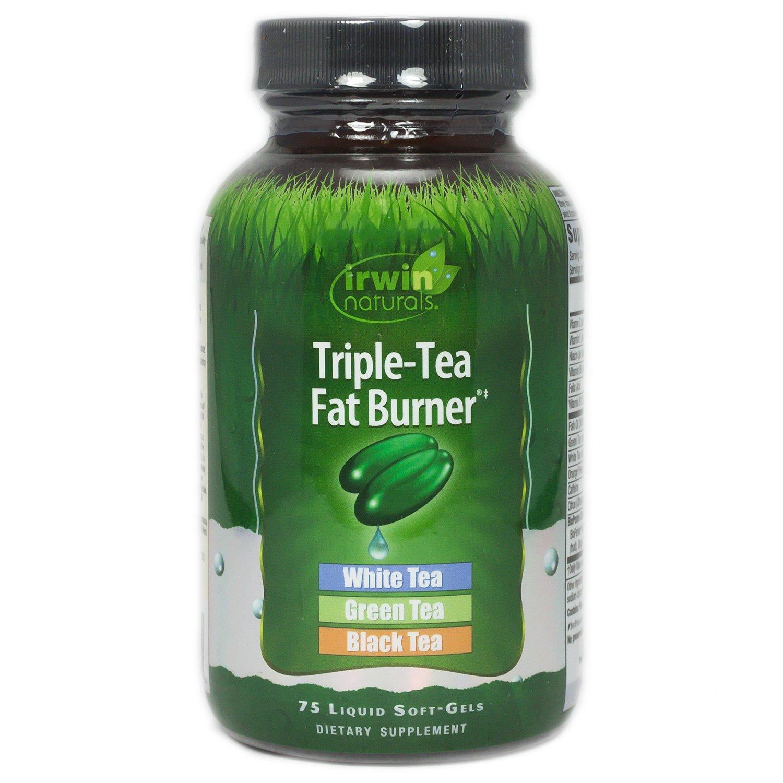 Irwin Naturals Triple Tea Fat Burner White Green Black Tea Antioxidant Rich Metabolism Booster