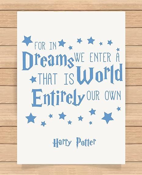Harry Potter impresión DE tamaño A4 regalo para en sueños ...