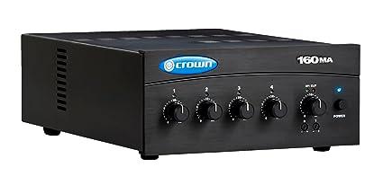 Crown 160MA Mixer Amplifier 4 Inputs 60 Watt Amplifier 70/100 Volt