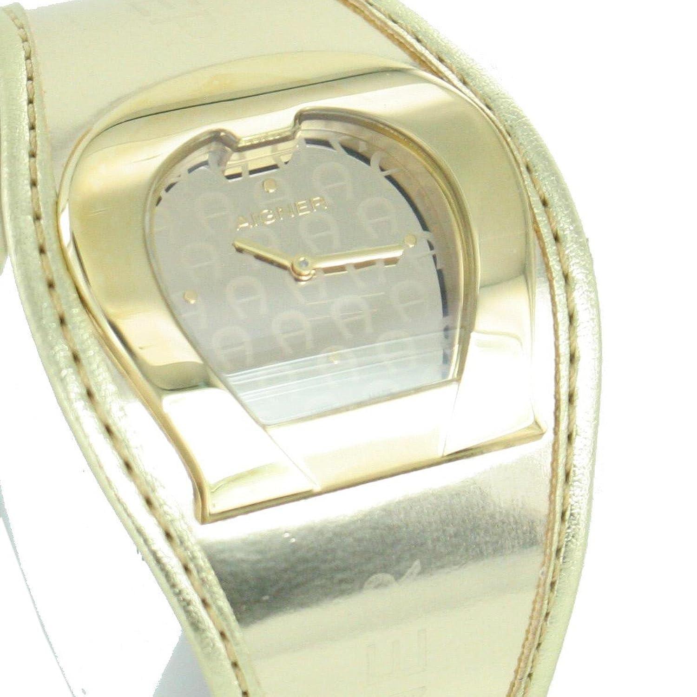 Orig. AIGNER Damenuhr Uhr A41213 LEDER gold UVP:549 --€ NEU 8457