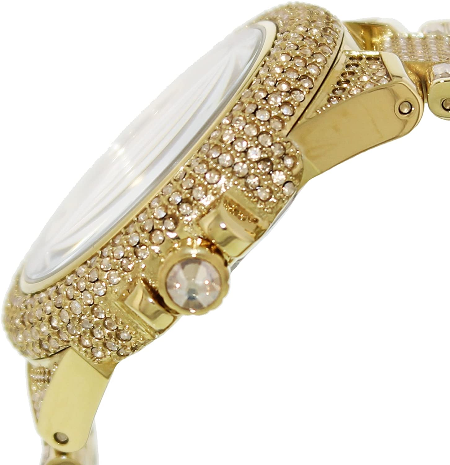 96274a64d2af7 Amazon.com  Michael Kors Camille Crystal Covered Gold Stainless Steel  Ladies Watch MK5720  Watches