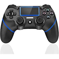 TUTUO Mando Inalambrico para PS4, Gamepad Wireless Bluetooth Controlador Joystick con Vibración Doble/Puerto de Audio…