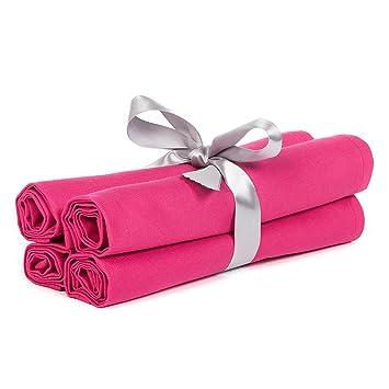 20u0026quot; X 20u0026quot; Solid Hot Pink Table Linen ...