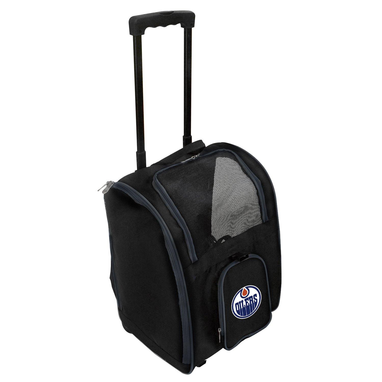 Denco NHL Edmonton Oilers Premium Wheeled Pet Carrier
