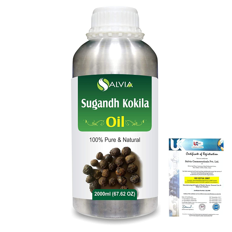 Sugandh Kokila (Cinnamomurn Cecidodaphne) 100% Natural Pure Essential Oil 2000ml/67 fl.oz. B07R3W2TJH