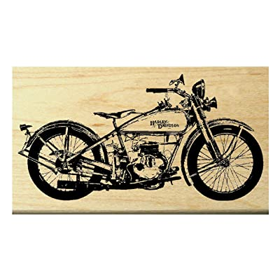 P20 Vintage=Classic Harley Style Motorcycle Rubber Stamp: Arts, Crafts & Sewing