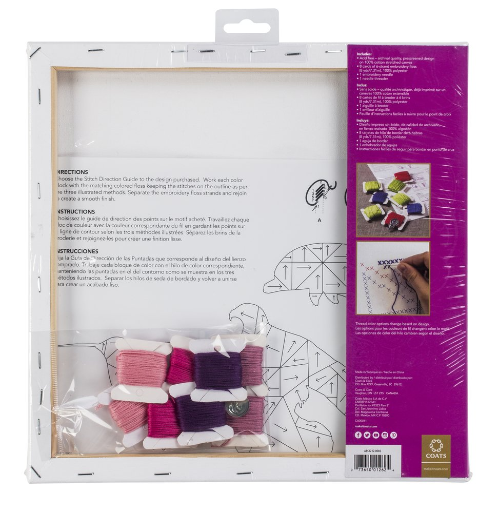 Amazon.com: Anchor Big Stitch Counted Cross-Stitch Kit w/ Embroidery Floss Tulip, 12