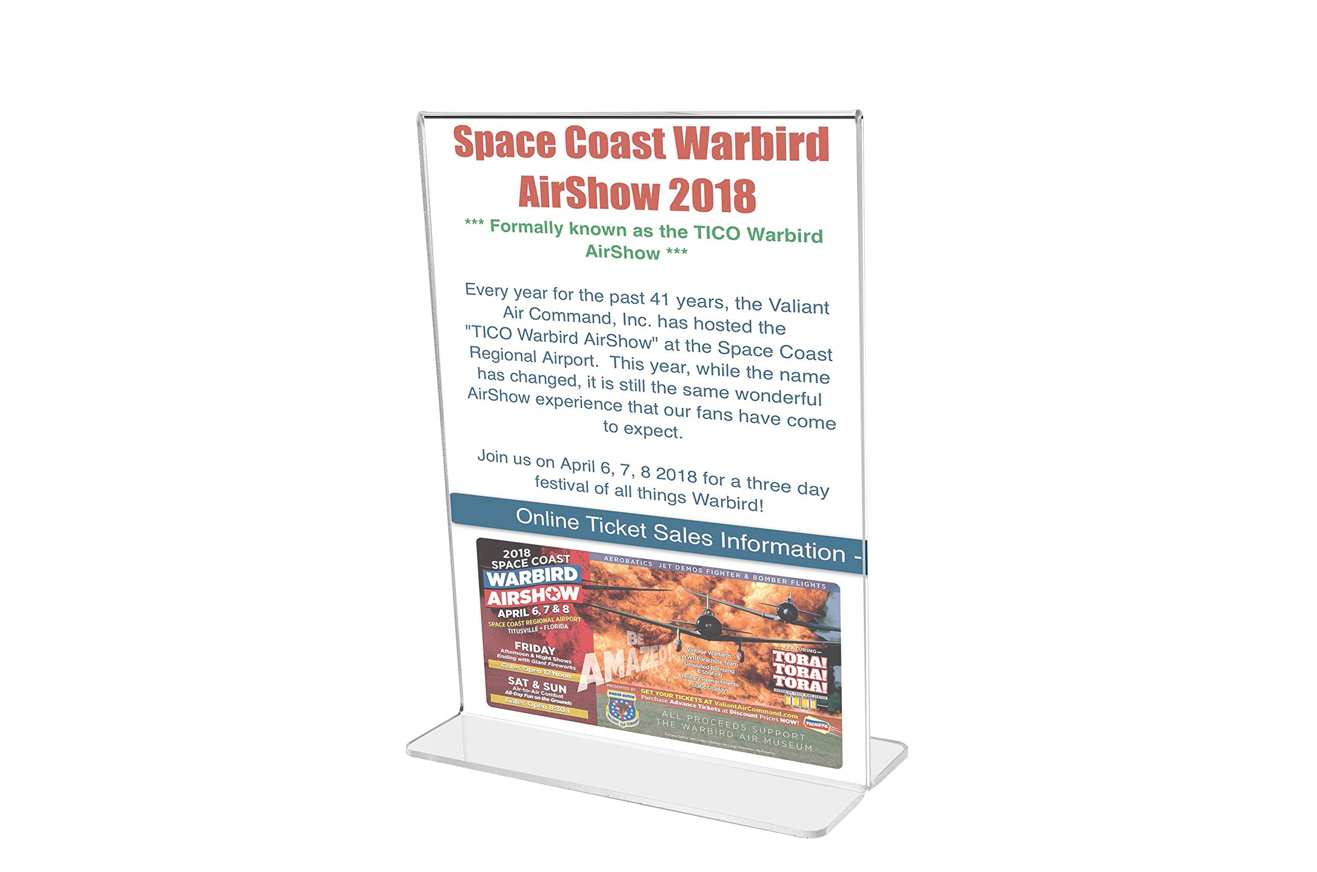 Marketing Holders Bottom Loading Flyer Frame Paper Holder Printed Material Literature Display Advertisement Holder 11''w x 14''h Pack of 30 by Marketing Holders (Image #2)