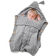 Newborn Baby Swaddle Blanket-Truedays Large Swaddle Best Soft Unisex for Boys or Girls (Grey) …