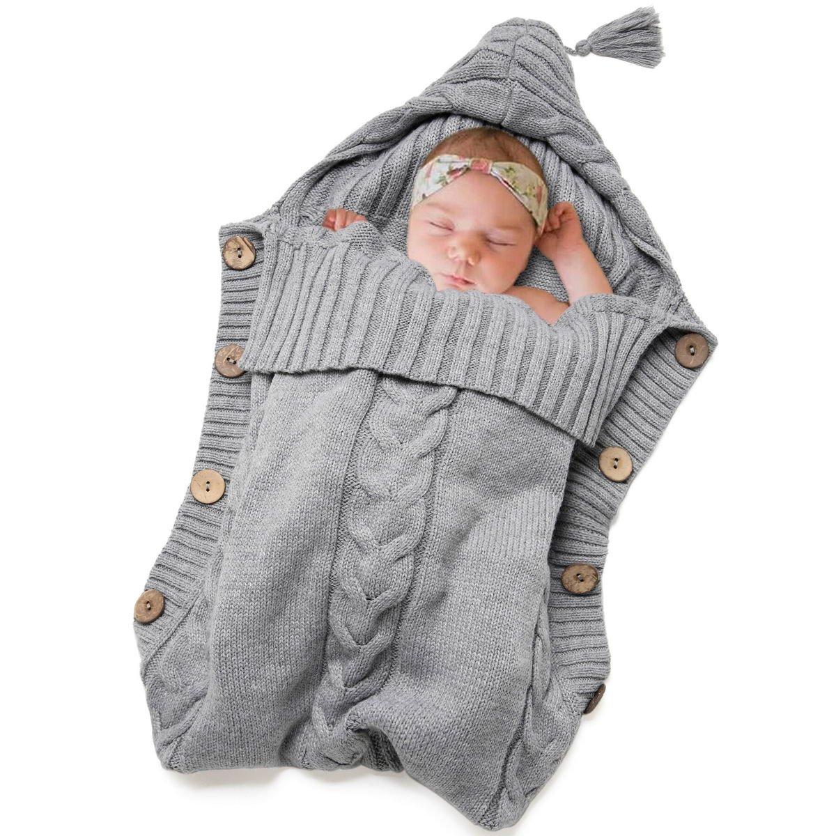Newborn Baby Swaddle Blanket-Truedays Large Swaddle Best Soft Unisex for Boys or Girls (Grey)