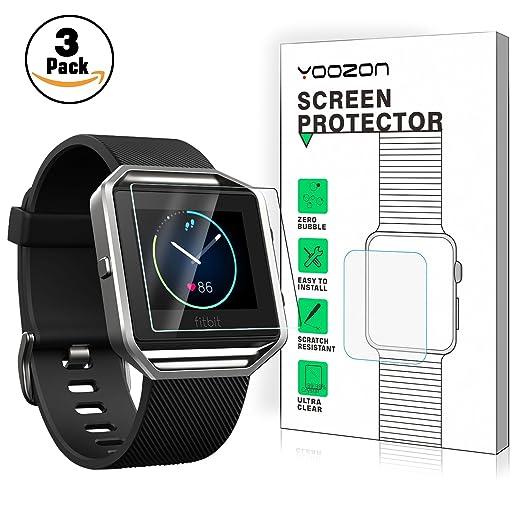 5 opinioni per Fitbit Blaze Pellicola Protettiva[3-Pezzi], Yoozon Fitbit Blaze temperato
