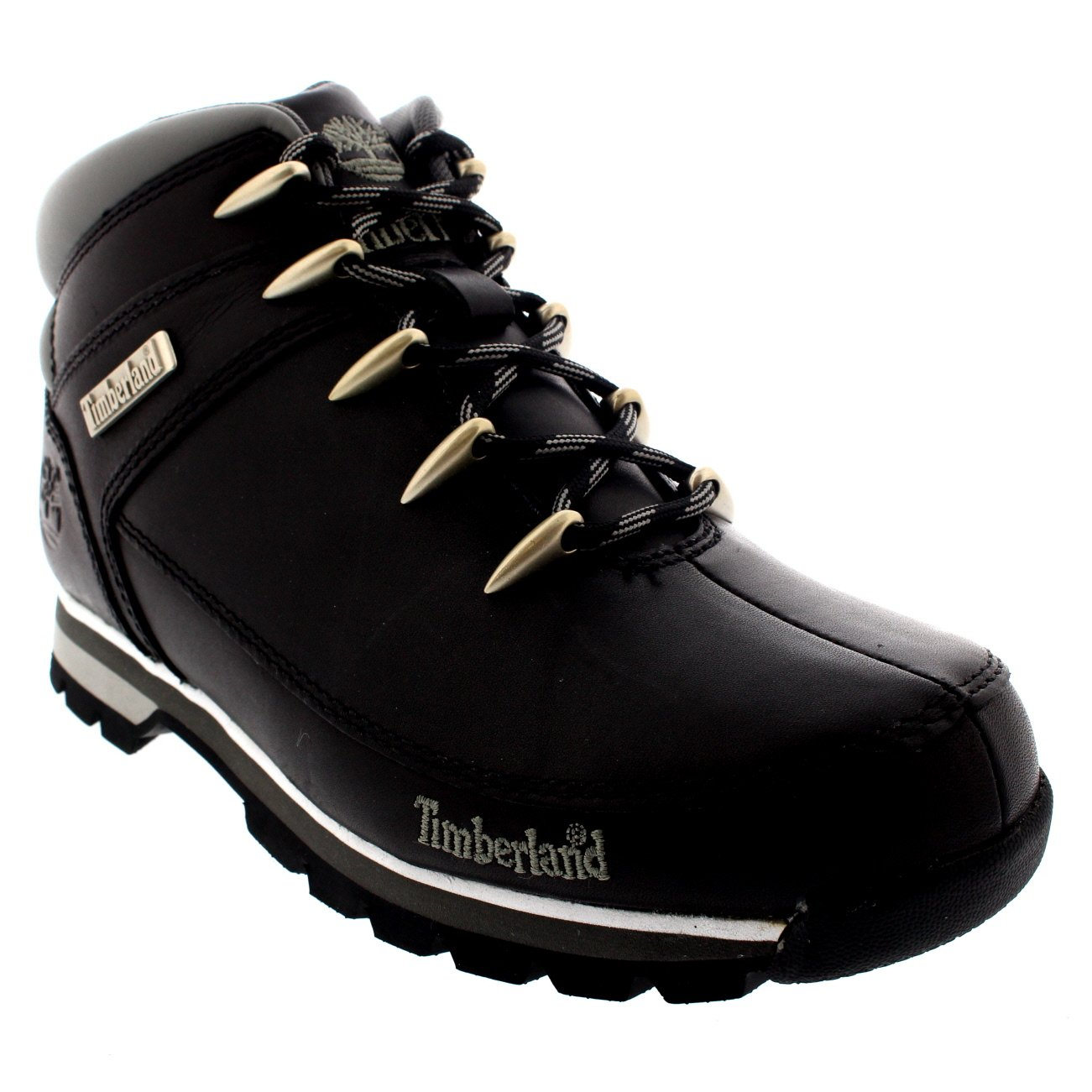 Mens Timberland Euro Sprint Hiker Casual Hiking Walking Ankle Boots - Black - 11.5