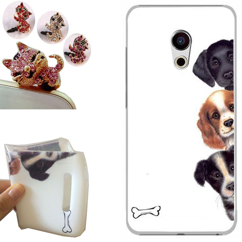 Meizu Pro 6 funda - CatStyle Meizu Pro 6 Carcasa,Suave TPU protectora de Silicona de Gel Funda Tapa Case Cover para Meizu Pro 6 (5.2 inches) (Tres ...