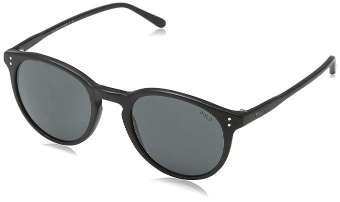 Ralph Lauren POLO 0PH4110 Gafas de sol, Matte Black, 50 para Hombre