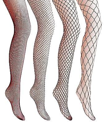 Netzstrumpfhosen Gvoo 4 Stuck 4 Stile Sexy Fischernetz Strumpfhosen
