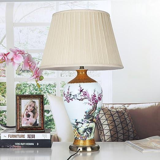 Amazon.com: Lámpara de mesa/dormitorio mesilla, Lámpara de ...