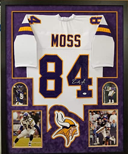 brand new ea3d1 ceccc Randy Moss Minnesota Vikings Signed Autograph CUSTOM FRAMED ...
