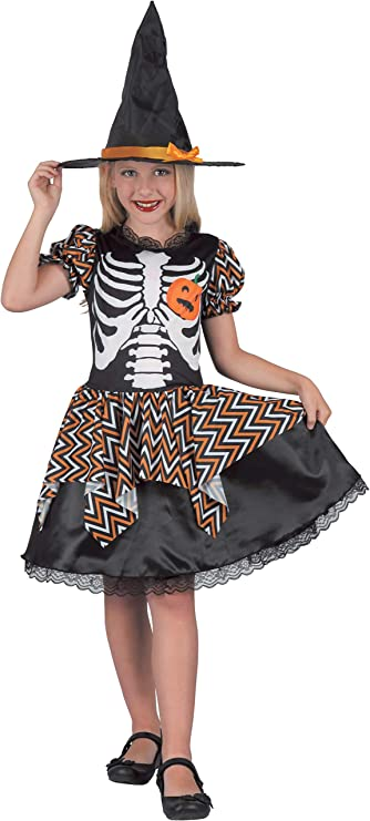 Bambine Bambini Bambino Nero Strega Halloween Costume Vestito 8-10 anni