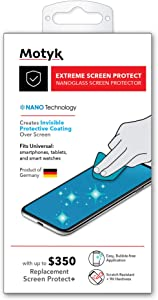 Invisible First Defense Liquid Glass Screen Protector with up to $350 Screen Protection - Scratch Resistant Nano Coating for All Phones Tablets Smart Watches Apple Samsung iPhone iPad Galaxy and Others Universal