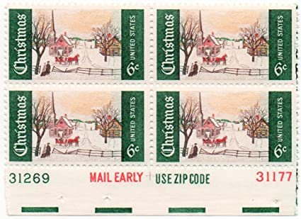 US Postage Stamp 1969 Christmas Issue 6 Cents Plate Block Of 4 Scott 1384