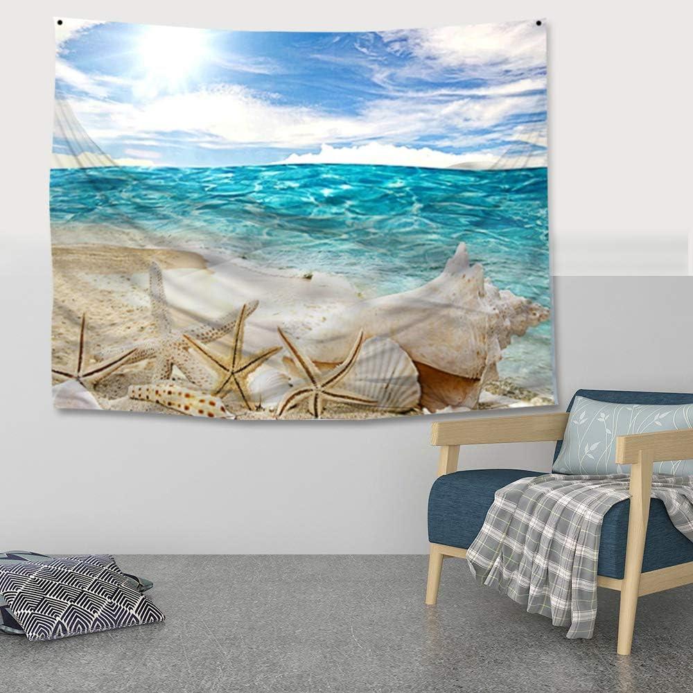 180x150cm Lonmo Arazzo Indiano da Appendere alla Parete Beach Decorazione per la casa per Soggiorno Lenzuolo Singolo