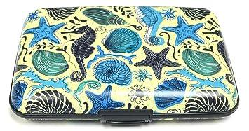 3bf65f3b964c Amazon.com: Fig Design Group Seahorses Shells RFID Secure Data Theft ...