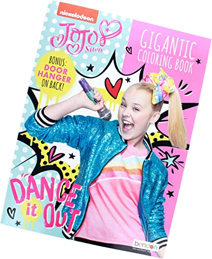 Amazon.com: Activity Books JoJo Siwa Gigantic 192 Page Coloring Book With  Door Hanger On Back: Toys & Games