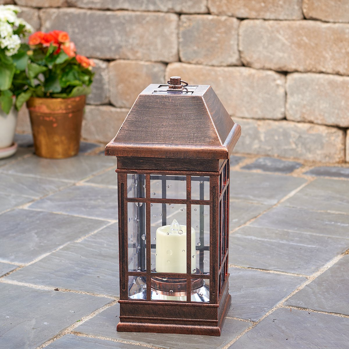 Amazon.com : Smart Solar 3960KR1 San Rafael II Solar Mission Lantern  Illuminated By 2 High Performance Warm White LEDs In The Top And One Amber  LED In The ...