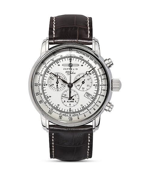 7680 Cuarzo Correa Zeppelin Analógico Piel 1 Reloj De Hombre Con – Para 4Aj35LRq
