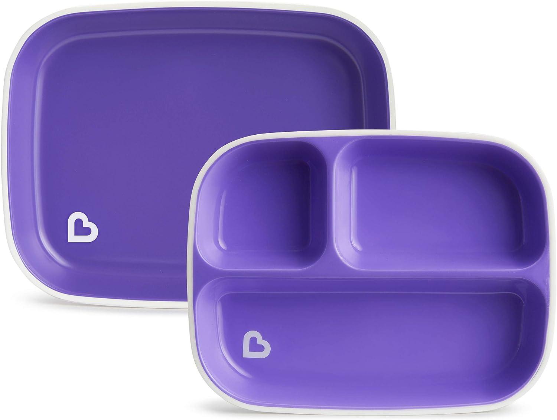 bol Munchkin Color Me Hungry Splash Ensemble de salle /à manger 7 pi/èces pour enfant avec assiette tasse et ustensiles dans une bo/îte cadeau Bleu