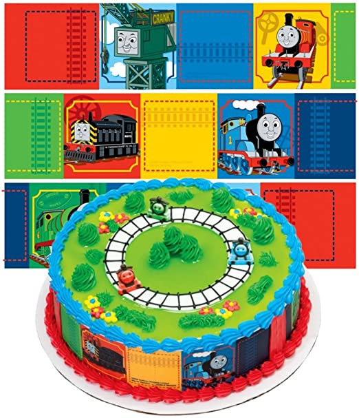 Sensational Amazon Com Thomas The Train Designer Prints Cake Edible Image Personalised Birthday Cards Sponlily Jamesorg