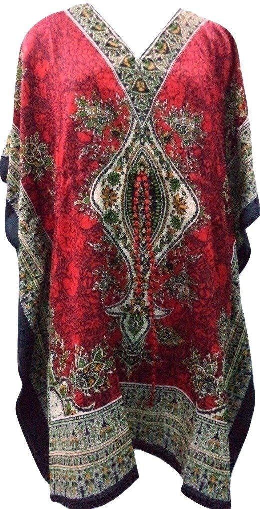 RiSi Women's Kaftan, Short V-Neck Top, Kimono Tunic Kaftan Dress RiSi Women' s Kaftan RC-049