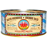 Recca Salted Anchovies - Net Weight 1 Pound. 12 Ounce (Drained Weight 1 Pound. 3 Ounce.)
