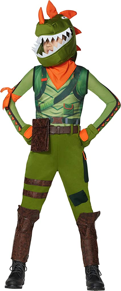 Spirit Halloween Boys Rex Fortnite Costume | Officially Licensed
