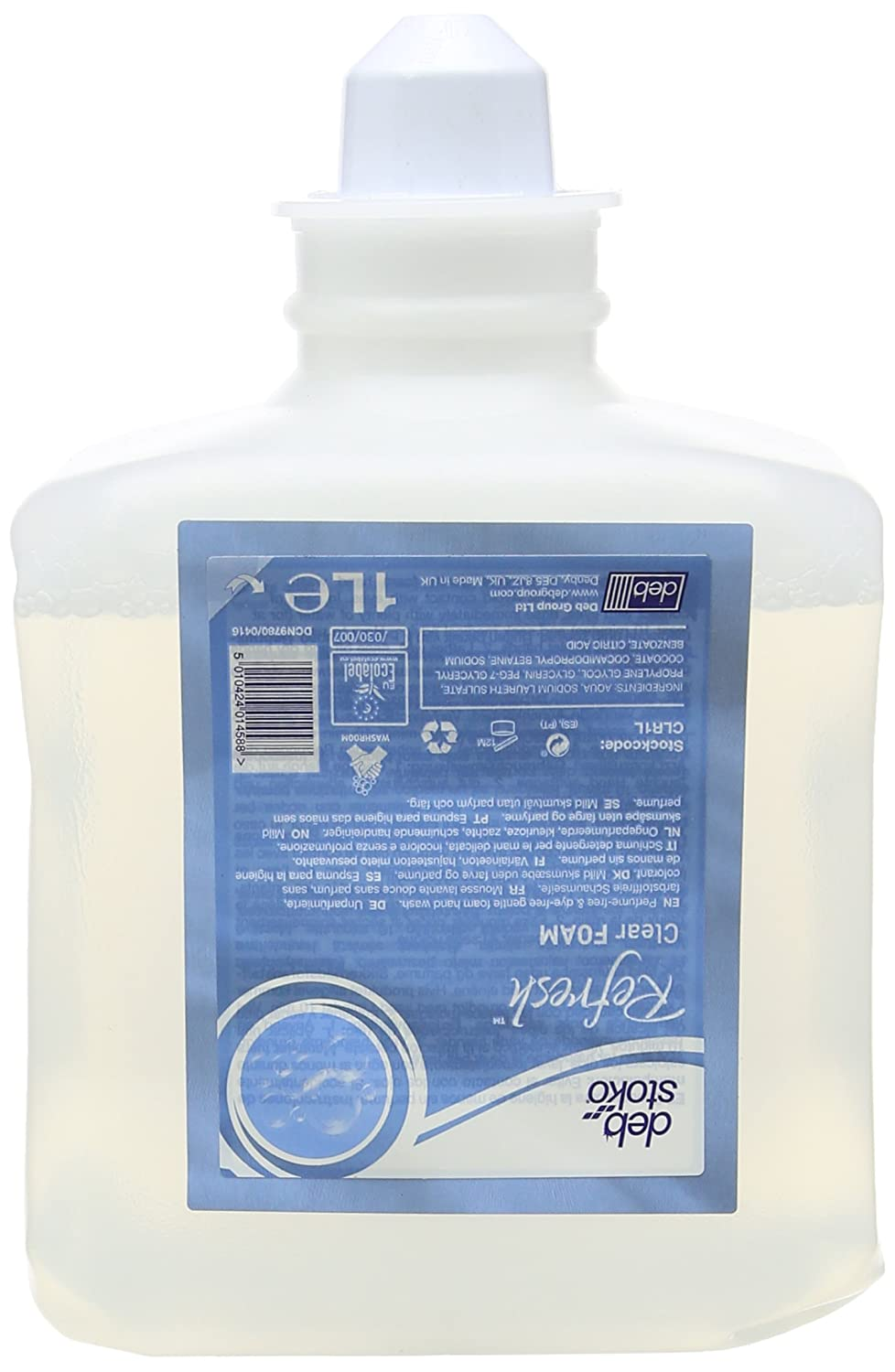 Deb CLR1L Clear Foam Wash, 1 Liter