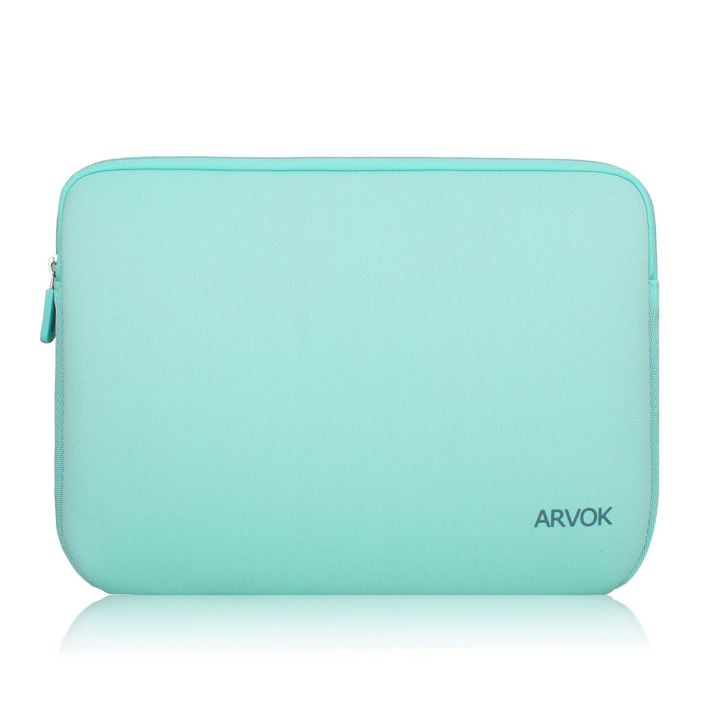 Arvok 13-14 Inch Laptop Sleeve Multi-color & Size Choices Case/Water-resistant Neoprene Notebook Computer Tablet Carrying Bag Cover, Light Green