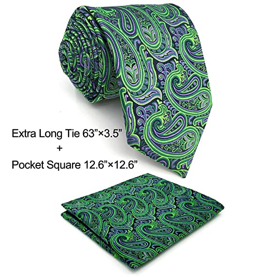 shlax wing Men s Neckties Ties Paisley Green Purple Accessories For ... a11e0a73b97