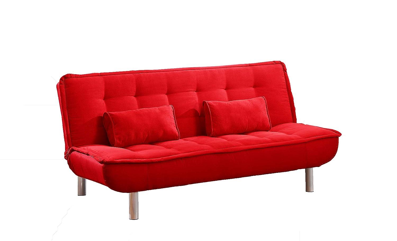 Mueblix Sofá Cama Otero Rojo