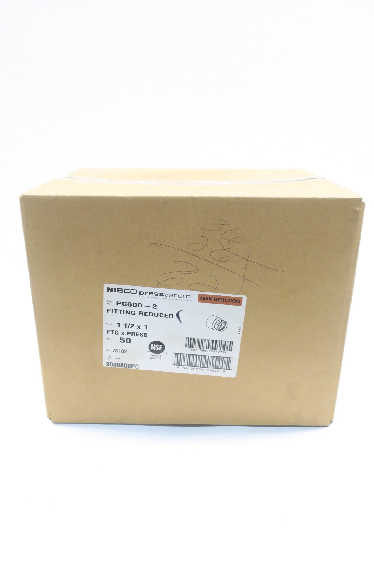 BOX OF 50 NIBCO 9008800PC PC600-2 PRESSYSTEM FITTING REDUCER 1-1/2 X 1IN D587552