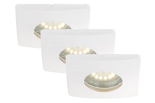 LED Einbauleuchten, Einbaustrahler, Einbauspots, 3-er Set, LED GU10 ...