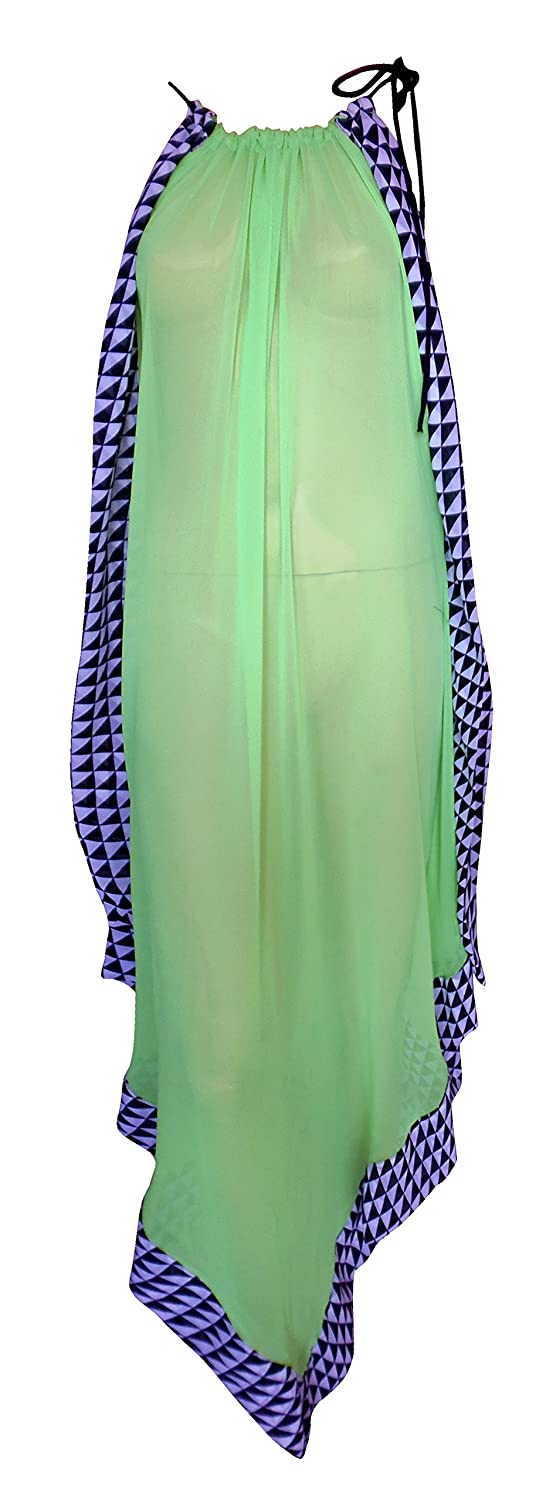 SUNROSE Solid Green Party wear Backless Long Dress