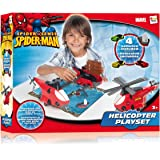 Imc Toys - Helicoptero Spiderman Playset Con 3 Coches Y 1 Barco 43-550728