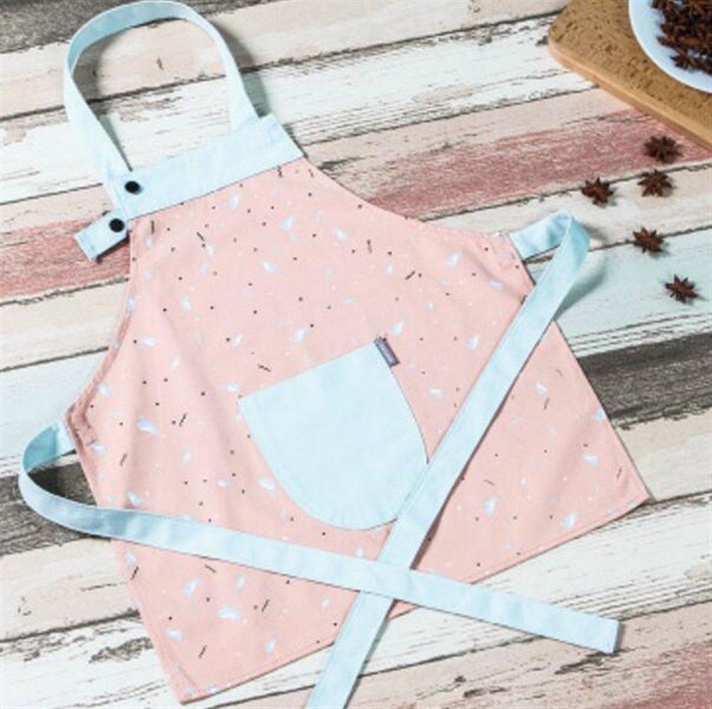 Süß und praktisch Kinder Antifouling Schürze-einstellbare gedruckte Schürze (Pink) ShireyStore