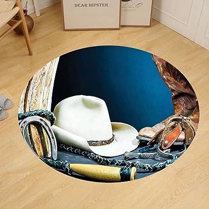 Amazon Gzhihine Custom round floor mat Western Decor Equestrian