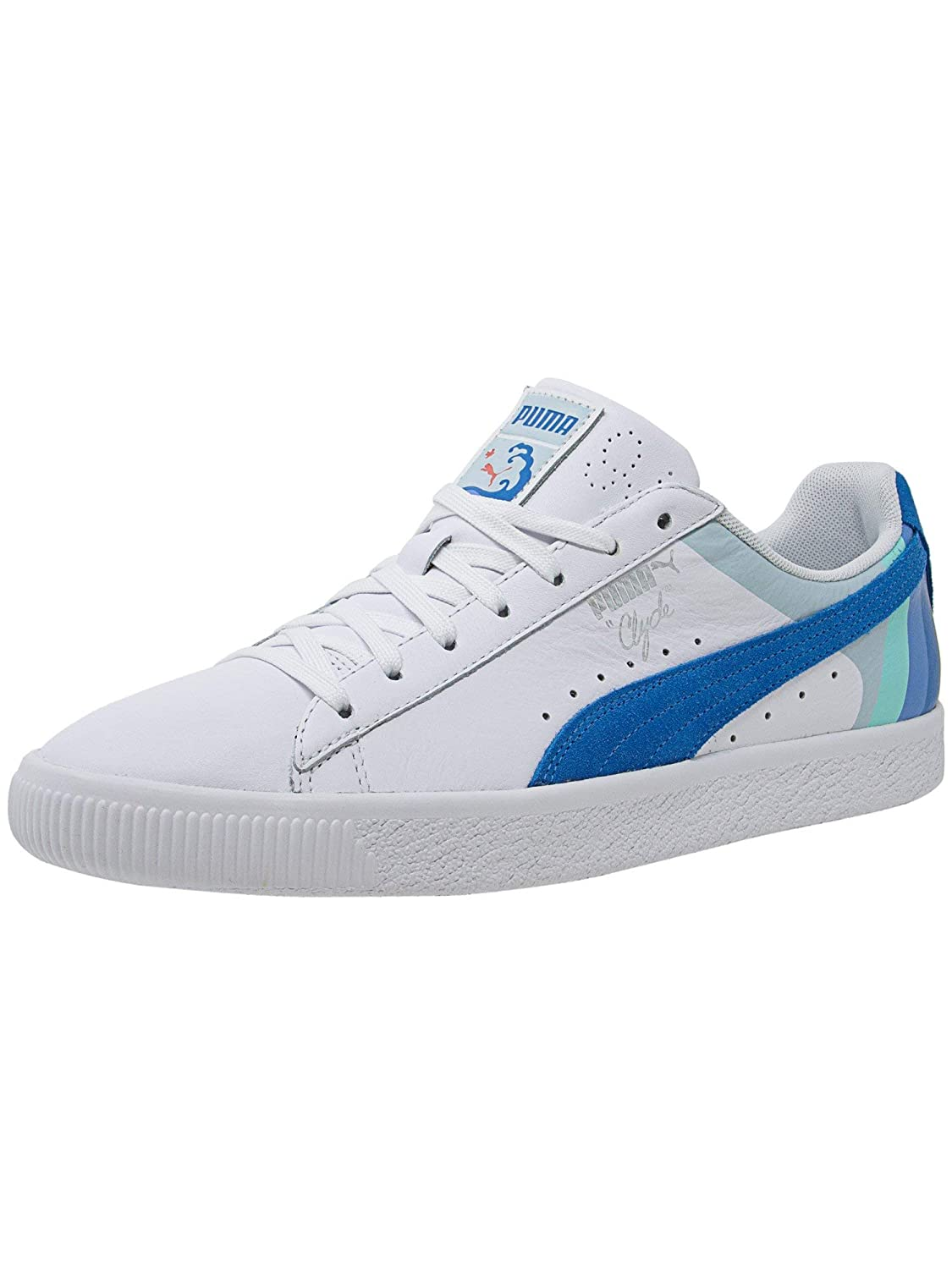 PUMA Mens Clyde - Pink Dolphin Clyde Pink Dolphin
