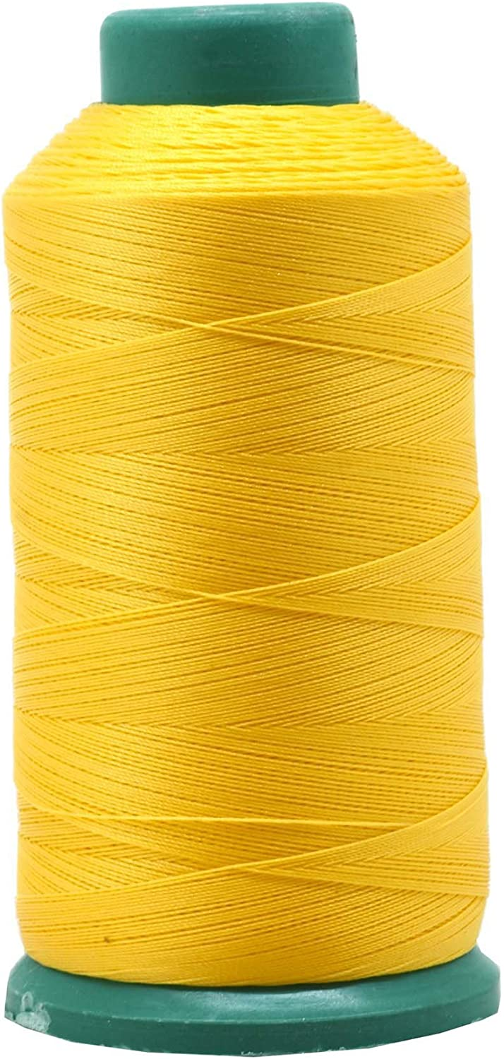 Desirable Life Bonded Nylon N66 Sewing Thread 1500 Yards Size #69 T70 210D//3 for Leather Denim Hand Machine Craft Shoe Bag Repairing Extra Strong Heavy Duty UV Rays Resistant Waterproof Yellow